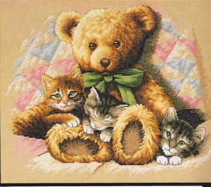 Teddy & kittens